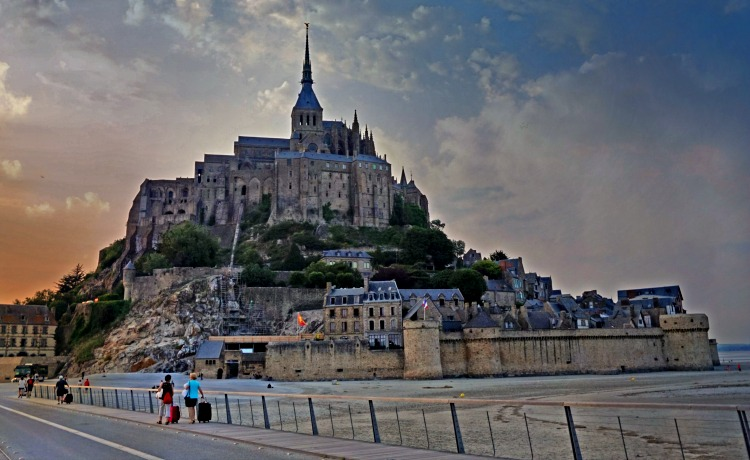 Sunset at Mont Saint Michel, France