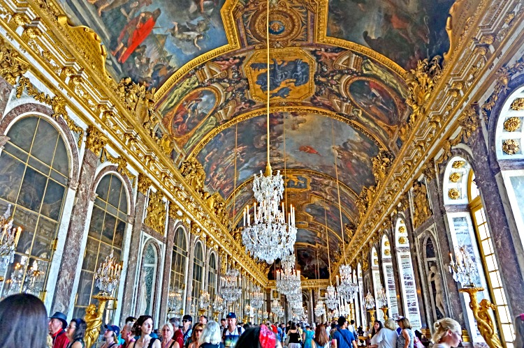 Magnificent Versailles Palace, the Hall of Mirrors, France
