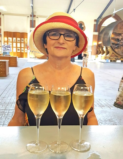 Tasting champagne in Reims, France
