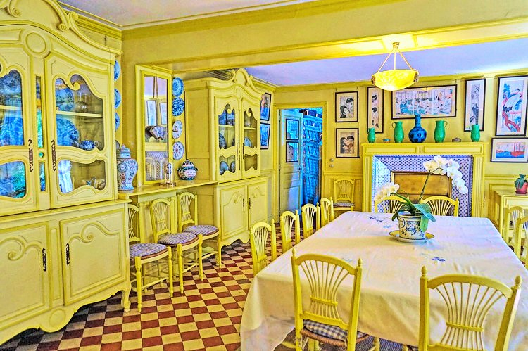 Dining room at Monet's house in Giverny, France