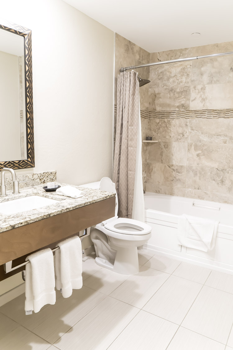Large bathrooms are great features in these family friendly Arizona resorts