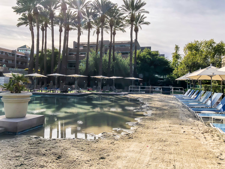 The beach walk-in makes for a great pool at this family friendly Arizona resort