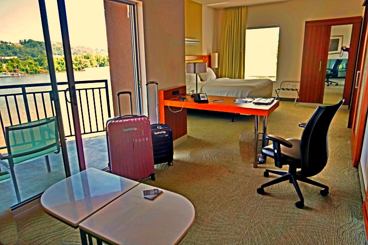Enjoy a variety of accommodations including this riverfront suite at SpringHill Suites by Marriott Chattanooga Downtown