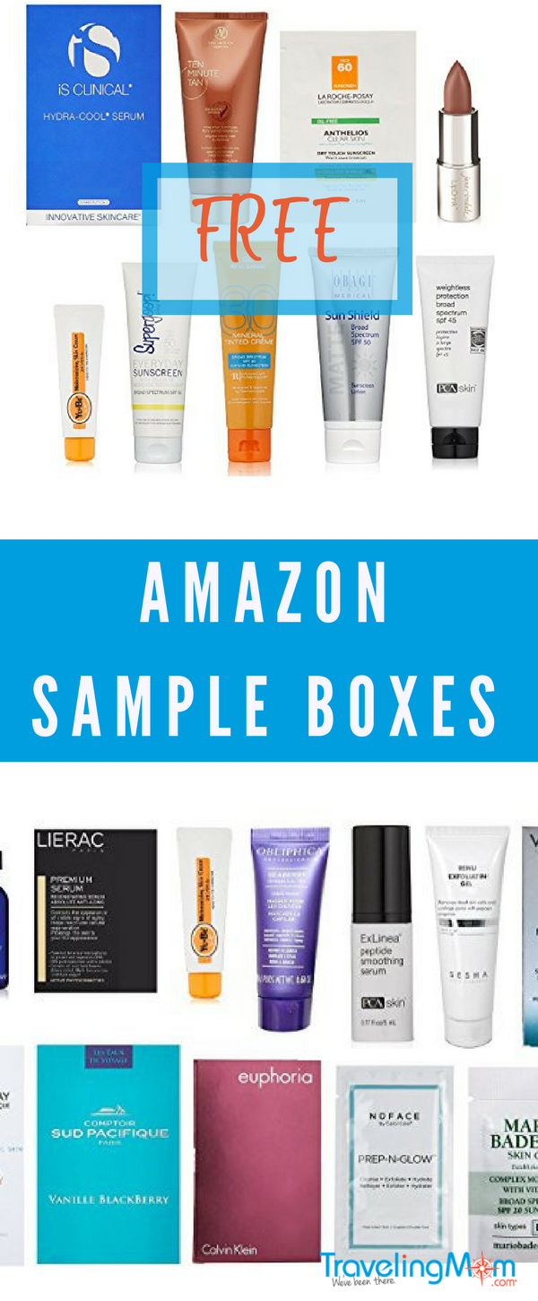 Amazon Sample Boxes are perfect for travel. Learn how to get them for free!