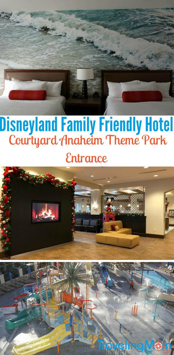 Looking for a family friendly hotel near Disneyland? Consider the Courtyard Anaheim Theme Park Entrance Hotel. Families will especially appreciate its location and amenities. Photos by Multidimensional TravelingMom, Kristi Mehes. #sponsored
