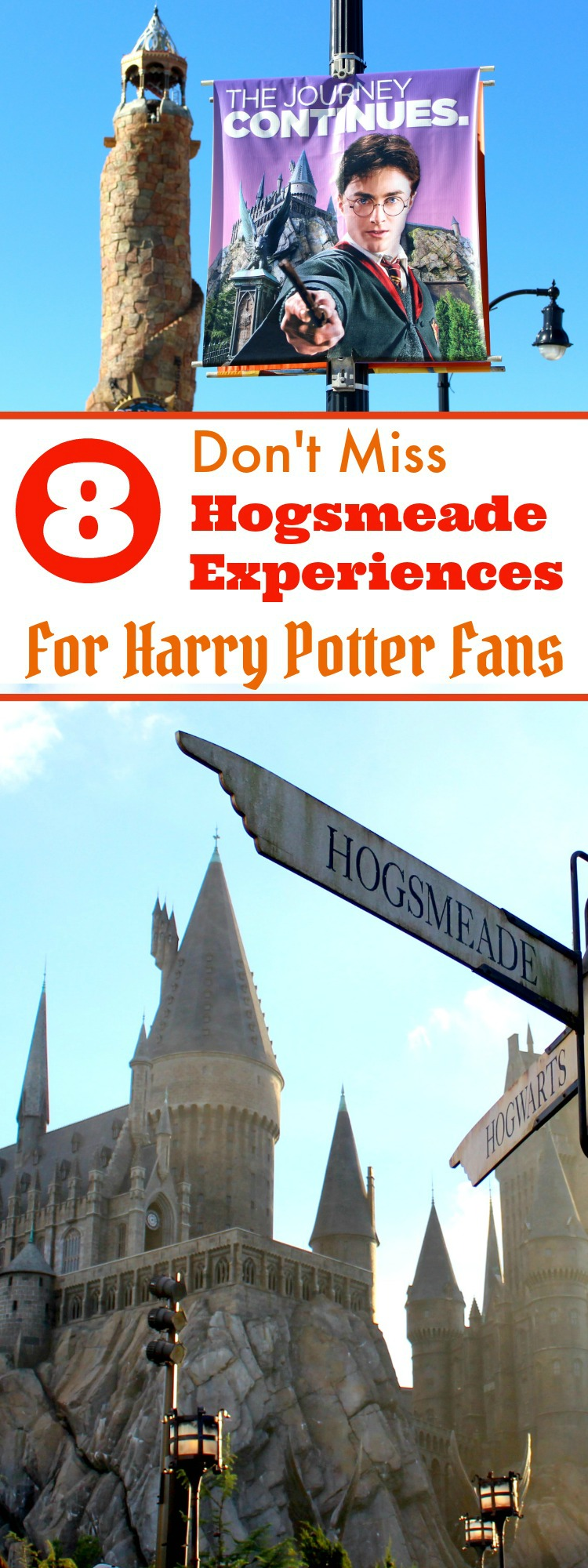 The Wizarding World Of Harry Potter at Universal Orlando Resort is a must-see for Harry Potter fans. These are just a few of the Hogsmeade experiences that can't be missed!