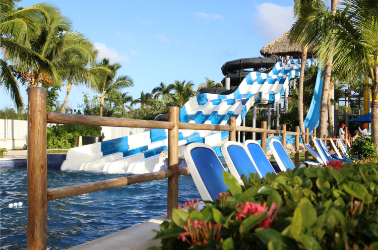When you visit Memories Splash Punta Cana, you can race down the waterslides in the Caribbeans biggest water park.