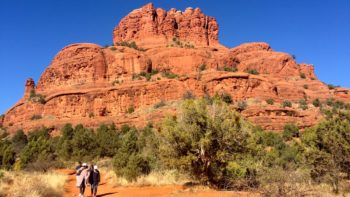 Tips for desert hiking with family include sunscreen and comfy shoes