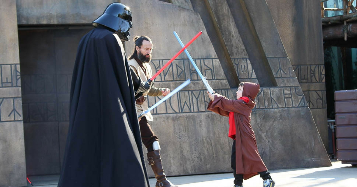 Kids can fight Darth Vader during Jedi Training Academy in Hollywood Studios.