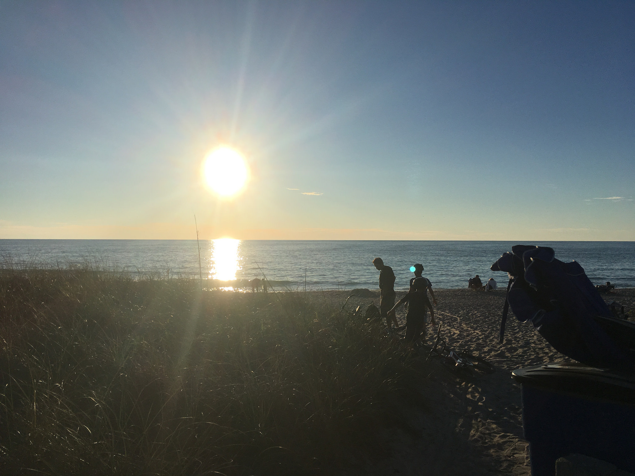 Visiting Manasota Key with Kids? Check out the sunset on the beach.