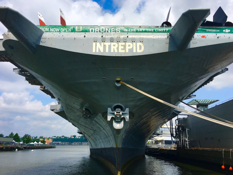 In New York City, kids can explore the Intrepid, an aircraft carrier to see the Concorde, a supersonic jet and a retired space shuttle.