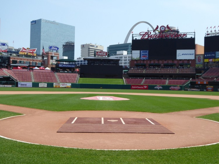 Families can tour Busch Stadium in St. Louis. It's one of the things to do in St. Louis with kids.
