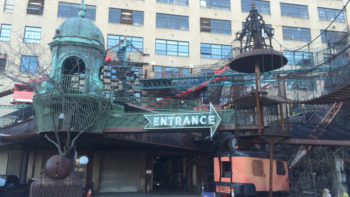 "The entrance to St. Louis' City Museum, which screams ""off the beaten path"" - and provides a fun, less crowded spring break destination for families."