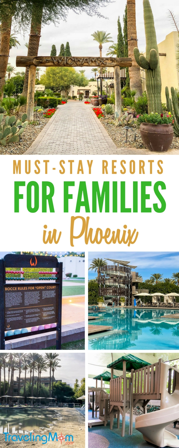 These Phoenix resorts and spas in Arizona are perfect for families! They're great destinations for families wanting to visit Scottsdale or the greater Phoenix area. From waterparks to things to do outdoors, these Arizona family resorts are not to be missed.
