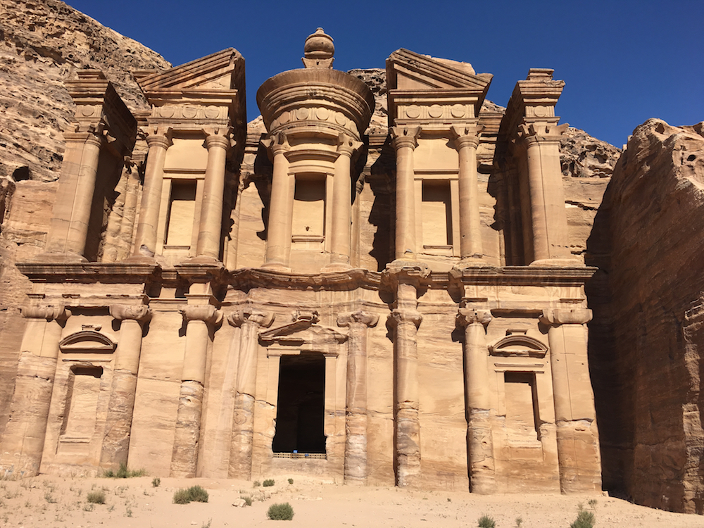 The Monastery in Petra. How to Plan a trip to Jordan with kids.
