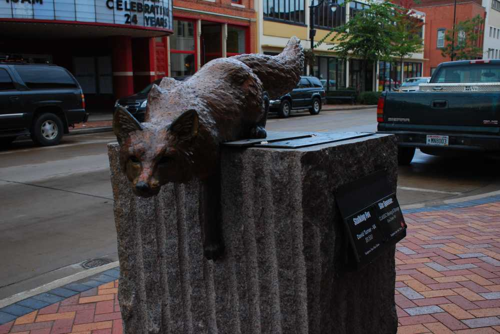 Things to do in Eau Claire with kids includes the downtown Eau Claire Sculpture Tour