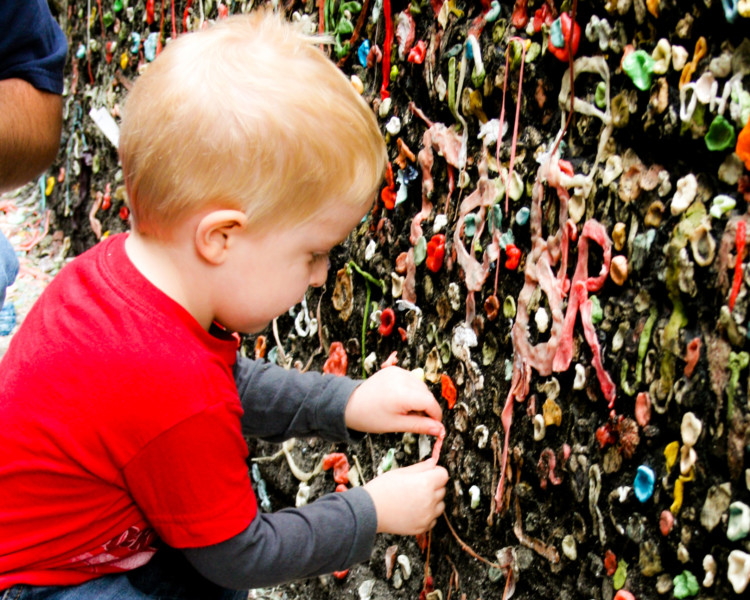 free activity Seattle gum wall budget-friendly spring break ideas