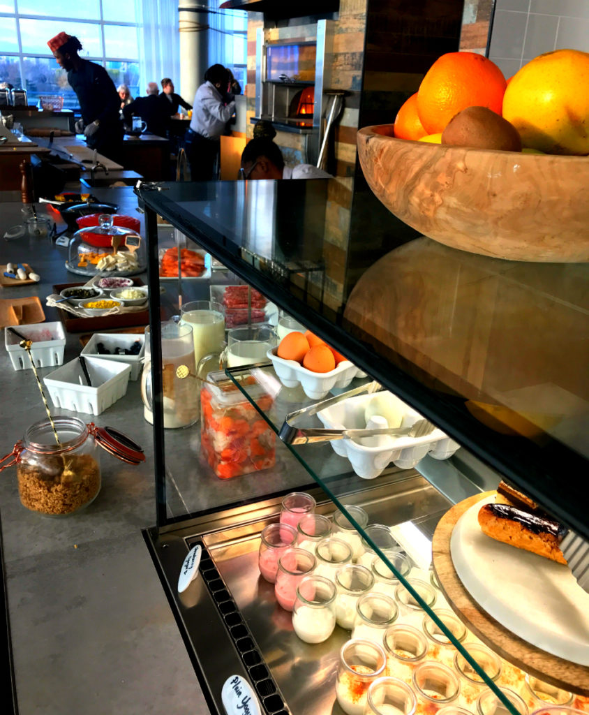 Breakfast is included at Canopy by Hilton.