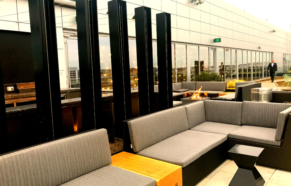 The rooftop deck at Canopy by Hilton.