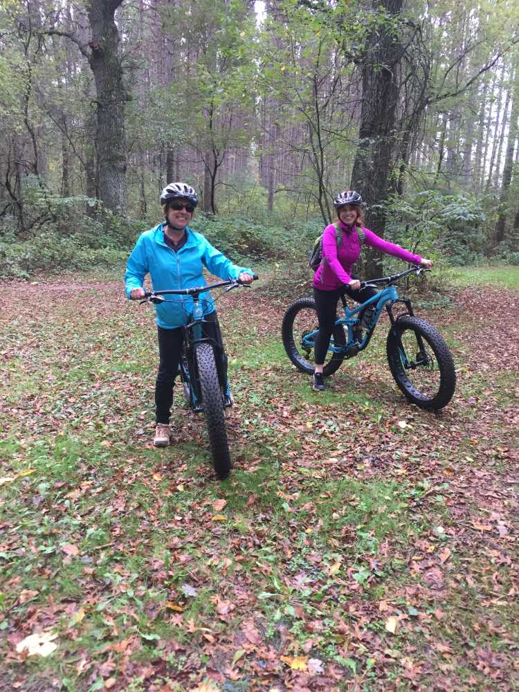 Fat tire bike riding is among the many Eau Claire outdoor activities