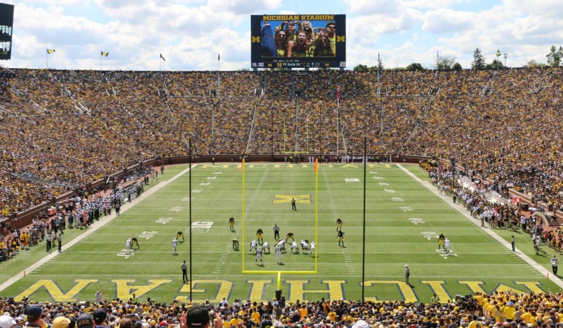Include a sports event in your itinerary when planning a college tour family vacation.