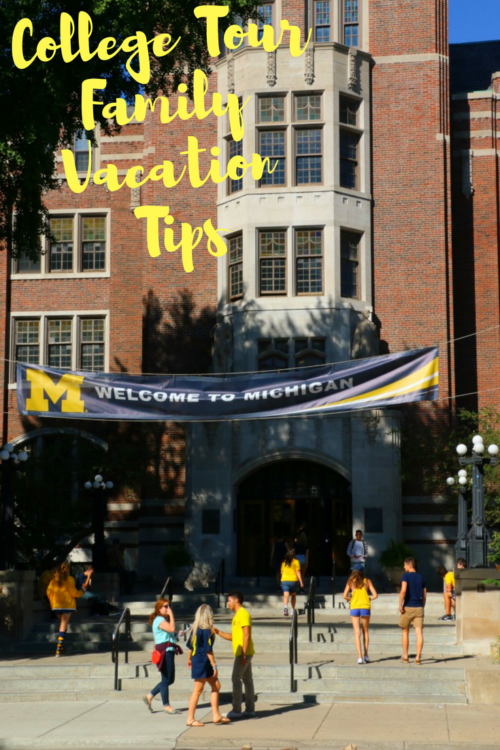 When planning a college tour family vacation, besides the campus tour, make sure and attend a game or cultural event.