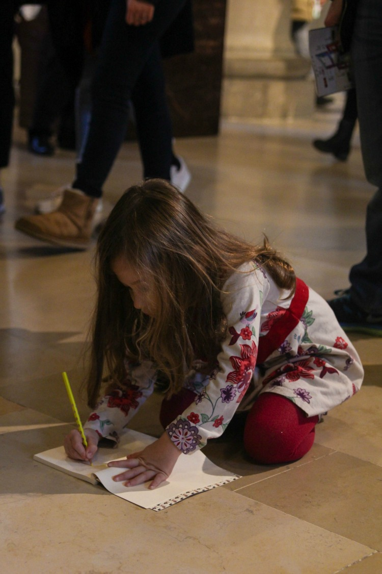 Have an art lover? One of our best tips for visiting Europe with kids is to take a sketchbook and draw in the French museums.