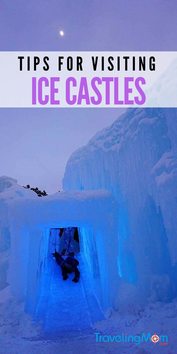 Though the Ice Castles look like Elsa magically conjured them, they are actually built from harvested icicles. The castle's glimmering blue glow is sure to stimulate visually while the ice slides will elicit shrieks of delight. Don't miss our tips for visiting the ice castles with kids. #icecastles #tmom #frozen