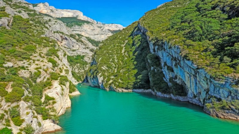Magnificent and undiscovered Verdon Gorges in France are major attraction when visiting the region of Provence