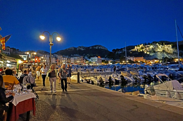 Village of Cassis at Night, Southern France.