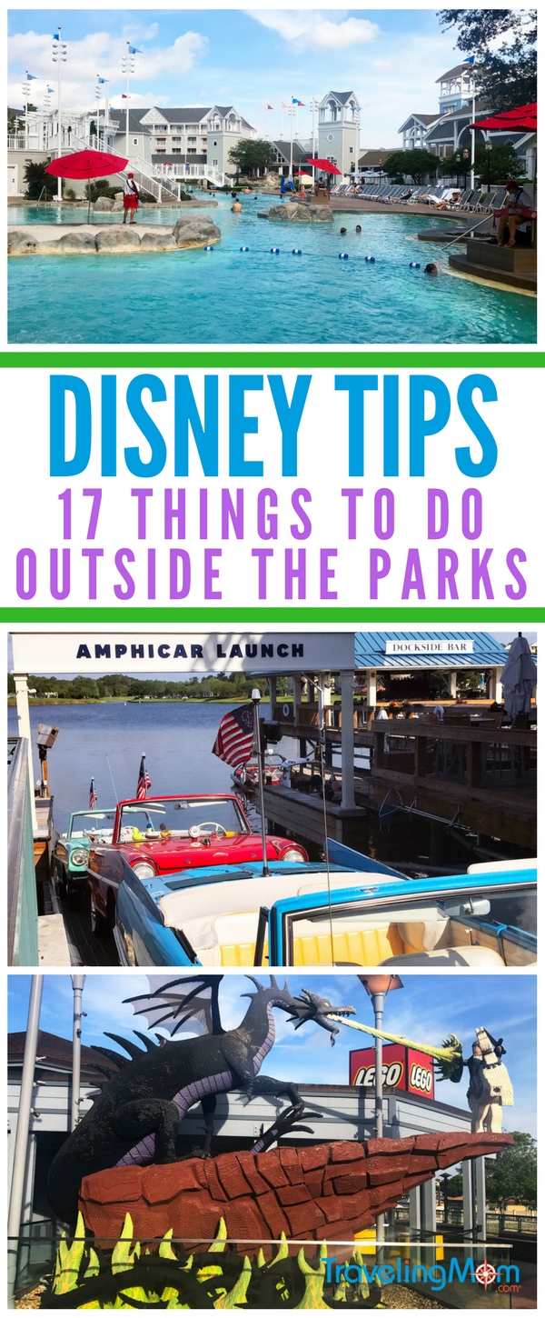 Disney is more than just it's theme parks! Find out how you can enjoy your trip to Disney without ever purchasing tickets. Read our list of 17 favorite thing to do outside of Disney World parks.