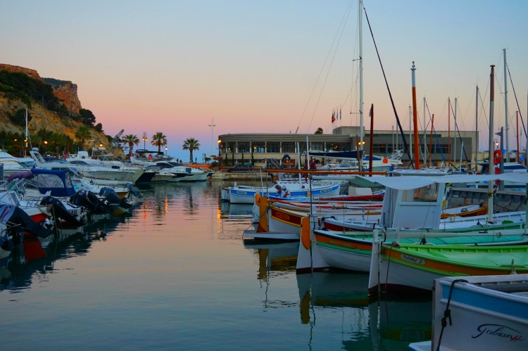 Sunset at Cassis in Southern France.