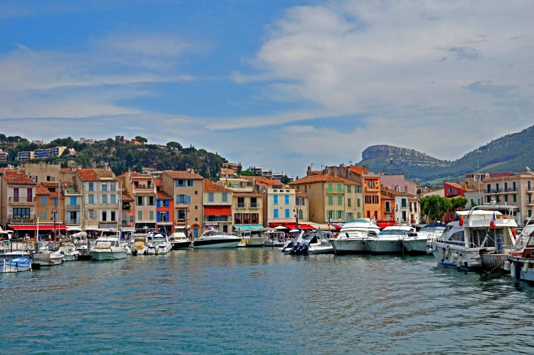 Lovely Cassis in Southern France as seen from the boat.