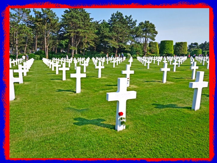 Cemetery of Americans who lost their lives in Normandy during D-Day Invasion