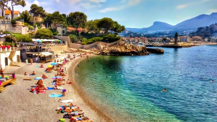 Soaking The Sun Of French Rivera In Cassis, France