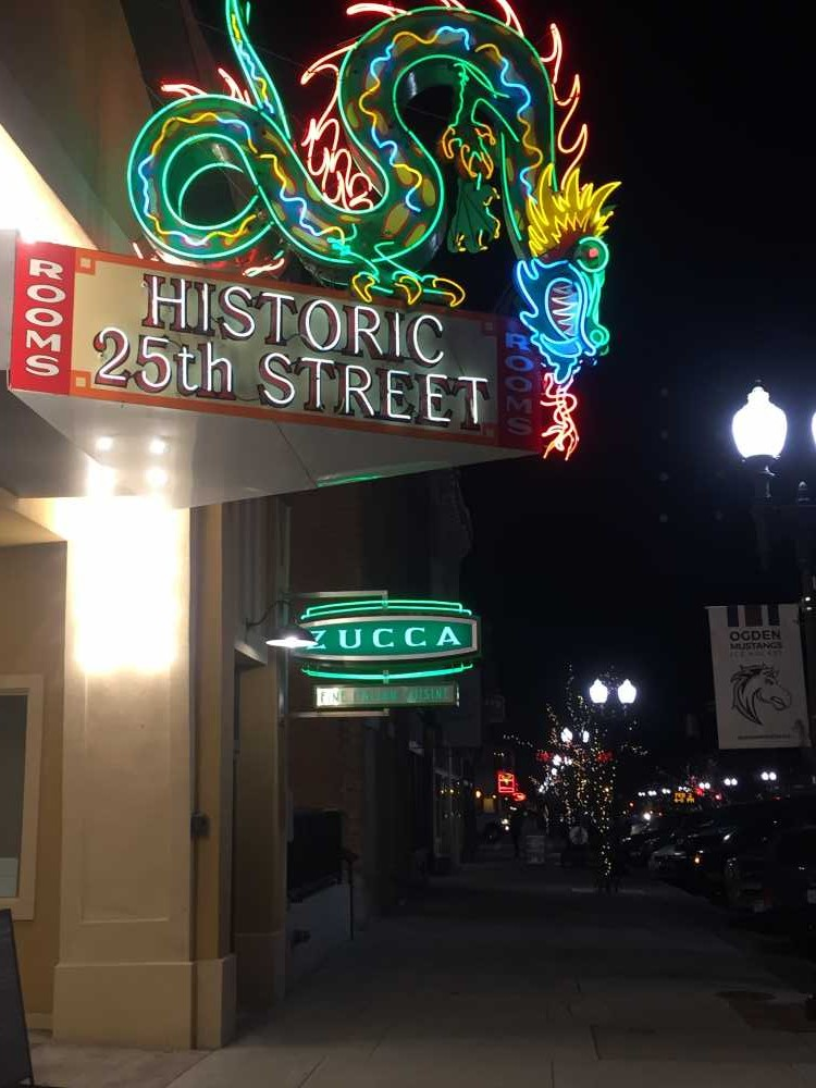 Outdoor activities in Ogden include shopping, dining and strolling along Historic 25th Street.
