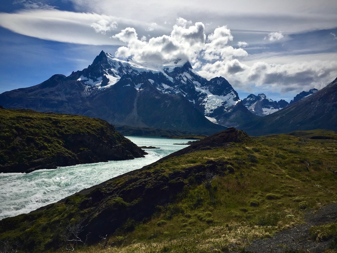1 of 11 essential travel tips to Chile include Salto Grande Waterfall in Torres del Paine National Park in Chile