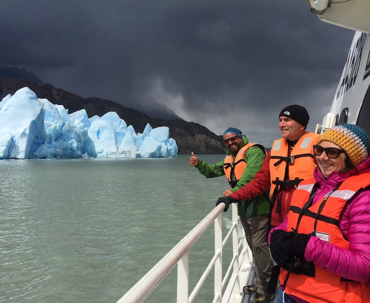 Chile travel advice is to visit Patagonia with a guide with this up close view of Grey Glacier on Lake Grey Patagonia.