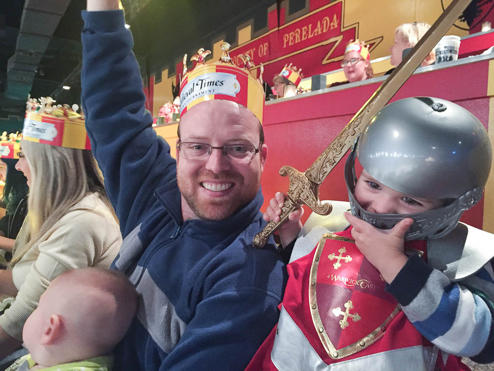Medieval Times is fun for the whole family. It's a great way rainy day activity in Orlando at night.