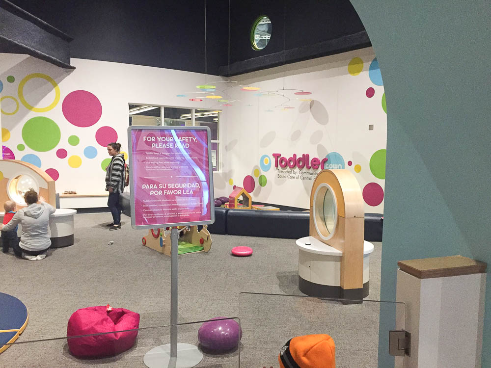 Toddler zone in Orlando Science Center is one of the best rainy day activities in Orlando for toddlers.