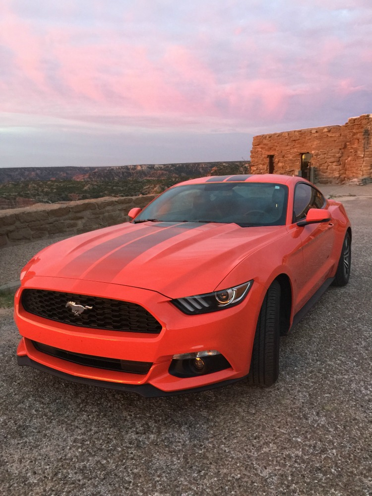 Texas road trip in a Ford Mustang