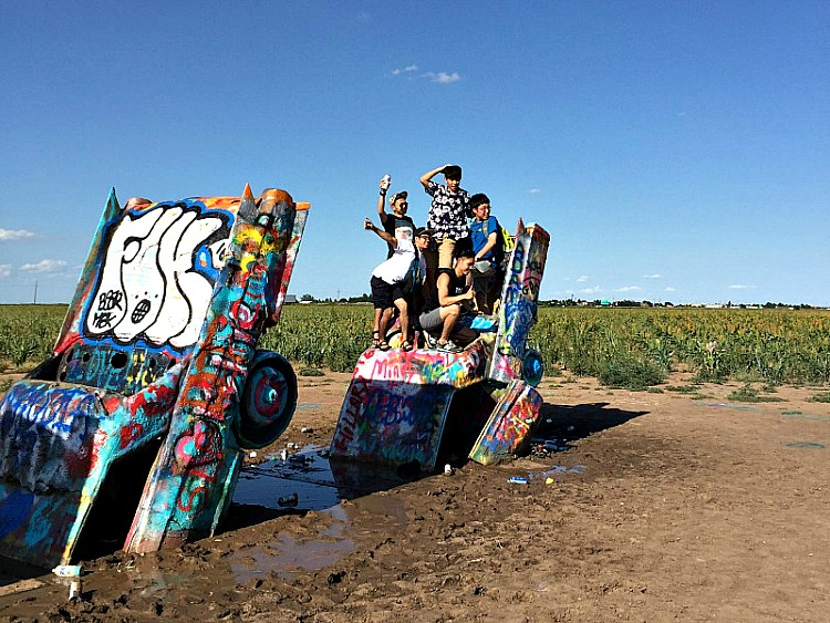 Roadside attraction The Cadillac Ranch