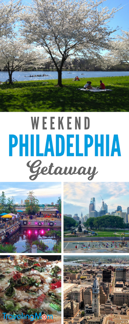 Philadelphia in a weekend can include museums, cherry blossoms, funky popup parks, history, and great food.