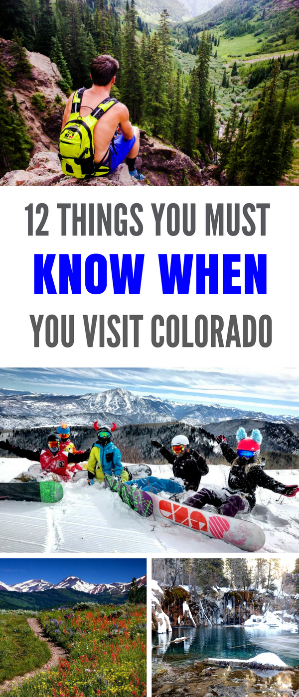 12 things to know when visiting Colorado