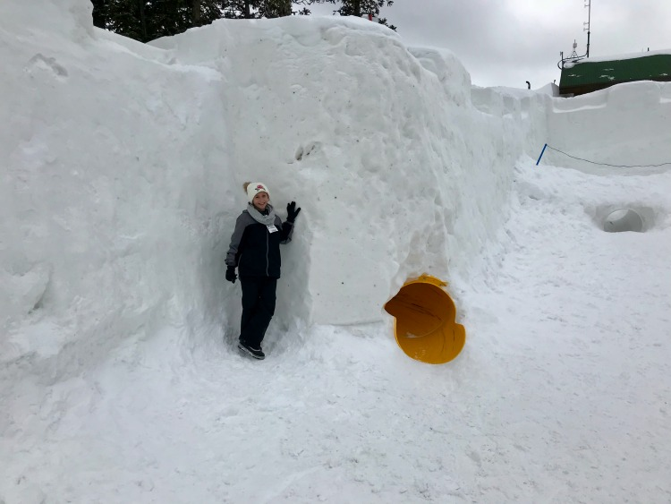 The best ski resort for kids had an awesome snow fort.