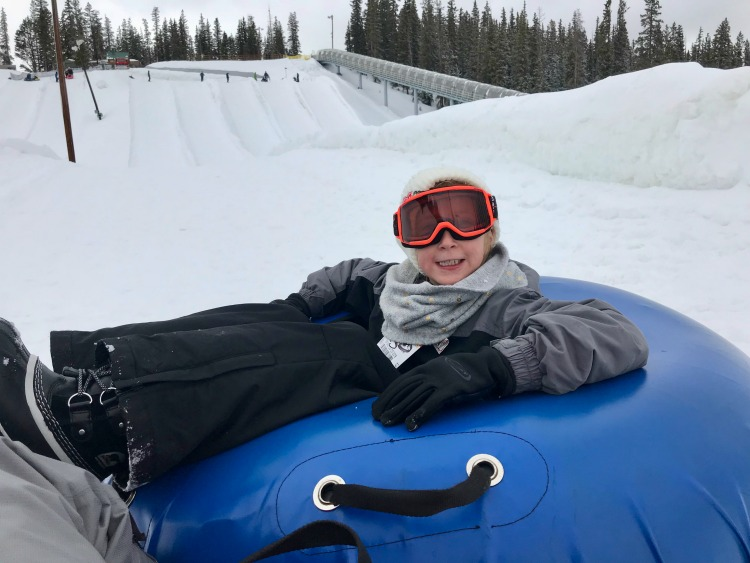 Snow tubing at the best ski resort for kids.