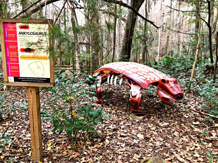 The dinosaur statues are incredible and educational at the kid-friendly Tallahassee Museum.