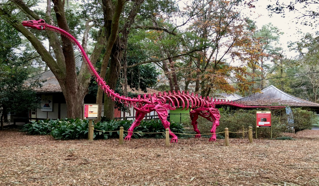 The kid-friendly Tallahassee Museum has a fantastic collection of dinosaur artworks made from salvaged auto parts.