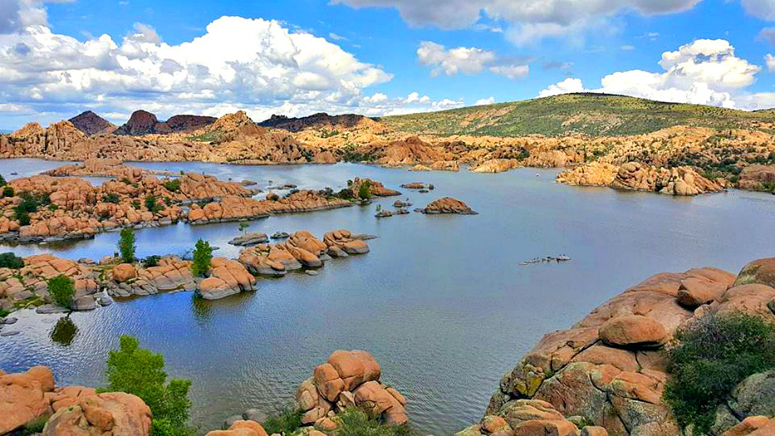 Watson Lake Park near Prescott, AZ offers a serene beauty and escape from the heat