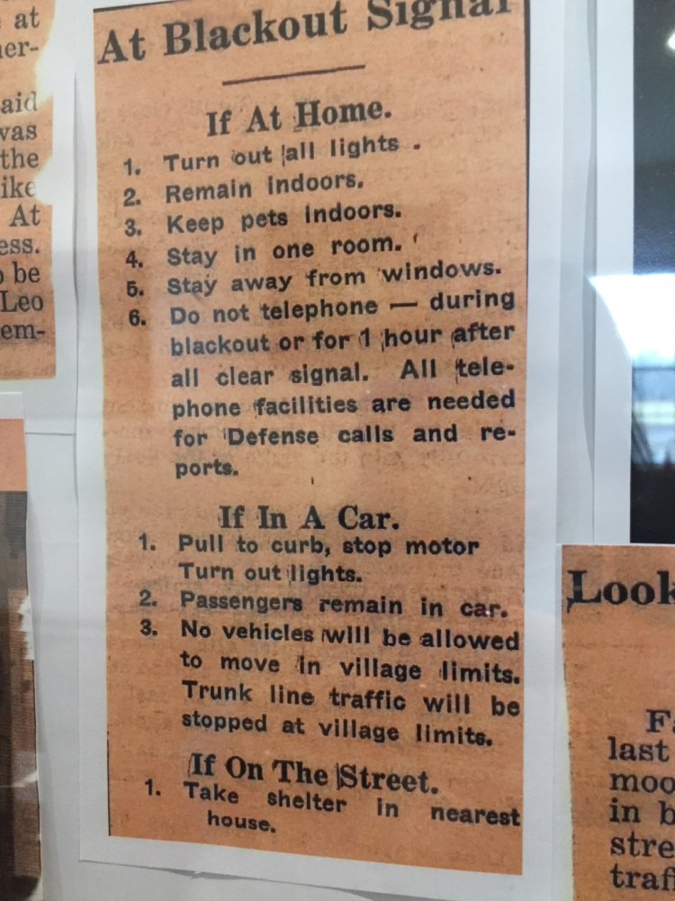 Rules for citizens if bomb occurred during a White Deer of New York tour.